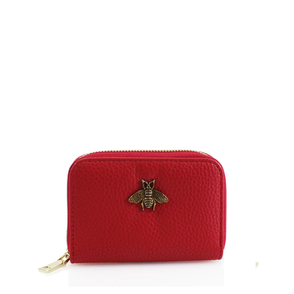 Carmen Bee Designer Inspired Card Holder - Red