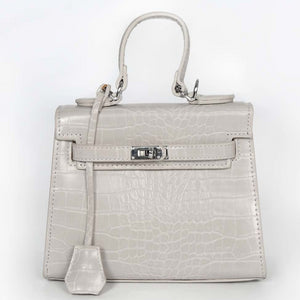 Keva Moc Croc Mini Hermes Inspired Bag - Grey