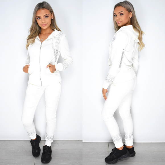 Scarlett Designer Inspired Loungewear Set - White