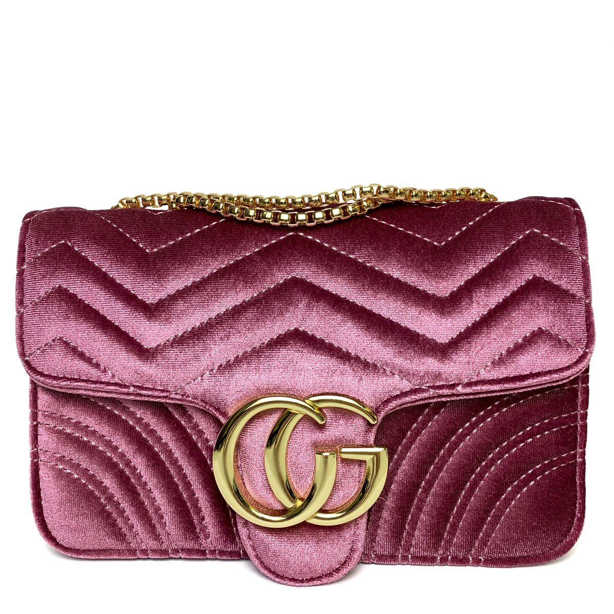 ca0e265a7e2d Talia Crossbody Gucci Inspired Marmont Bag - Velvet Pink – Style Of Beyond