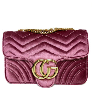 273e66dfa Talia Crossbody Gucci Inspired Marmont Bag - Velvet Pink – Style Of Beyond
