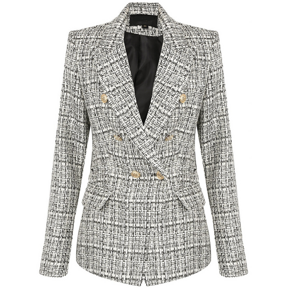 Veronica Tweed Balmain Inspired Blazer - Black