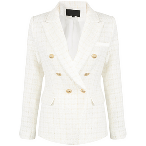 Mabel Tweed Balmain Inspired Blazer - White
