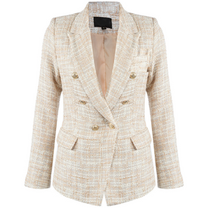 Francesca Tweed Balmain Inspired Blazer - Nude