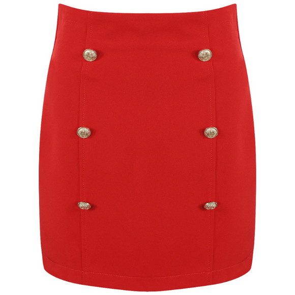 Victoria Balmain Inspired Skirt - Red