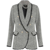 Zara Fringed Tweed Balmain Inspired Blazer