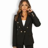 Alexandra Balmain Inspired Tailored Blazer - Black
