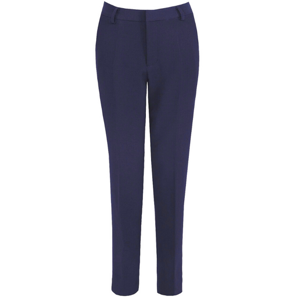 Shannon Designer Inspired Tailored Trousers - Navy
