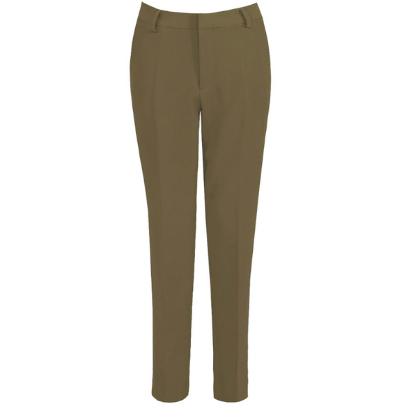 Shannon Designer Inspired Tailored Trousers - Khaki
