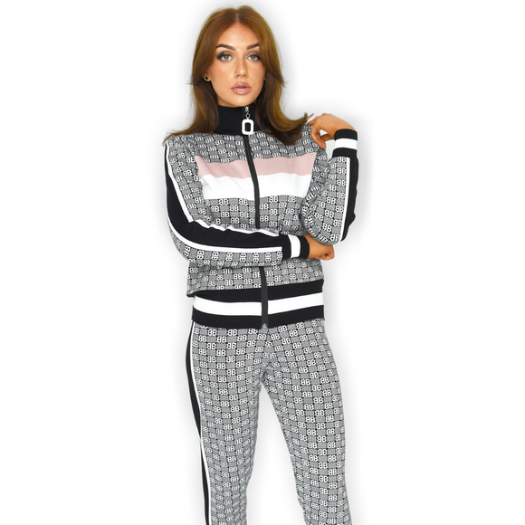 BB Designer Inspired Loungewear Set - Black