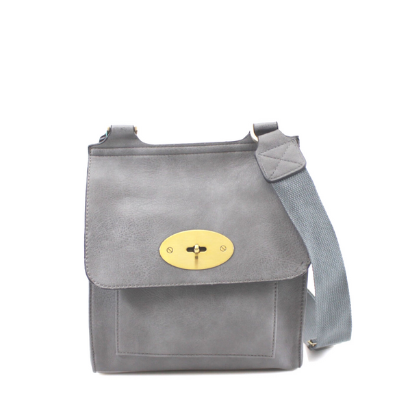 Toni Mulberry Inspired Satchel Bag - Grey