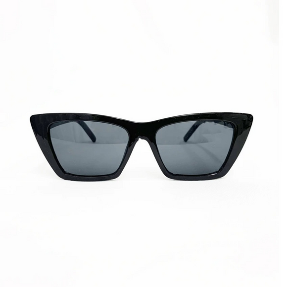 LA Designer Inspired Cat Eye Sunglasses - Black