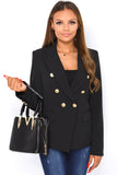 Lexi V Small Designer Inspired Inspired Tote Bag - Black worn on the arm