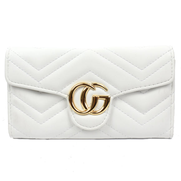Venus Marmont Designer Inspired Purse - White
