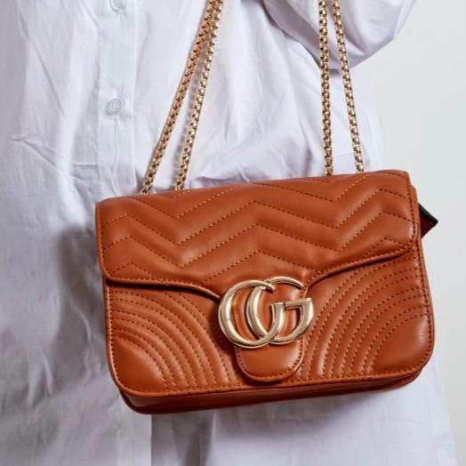 Talia Crossbody Gucci Inspired Marmont Bag - Tan