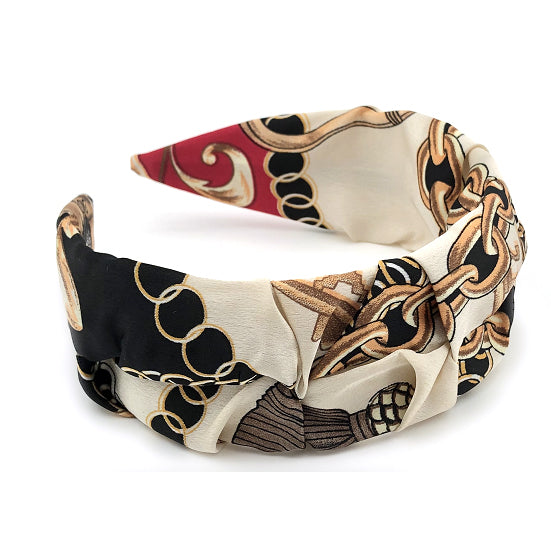 Carly Designer Inspired Chain Print Headband