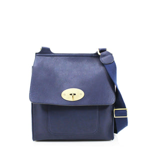 Toni Mulberry Inspired Satchel Bag - Navy