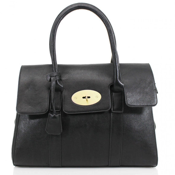 Kinley Mulberry Inspired Shoulder Bag - Black