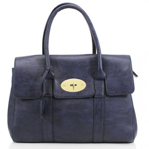 Kinley Mulberry Inspired Shoulder Bag - Navy