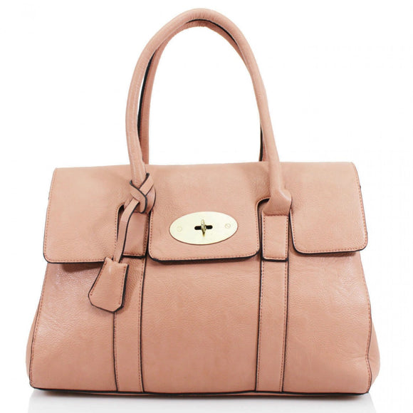 Kinley Mulberry Inspired Shoulder Bag - Pink