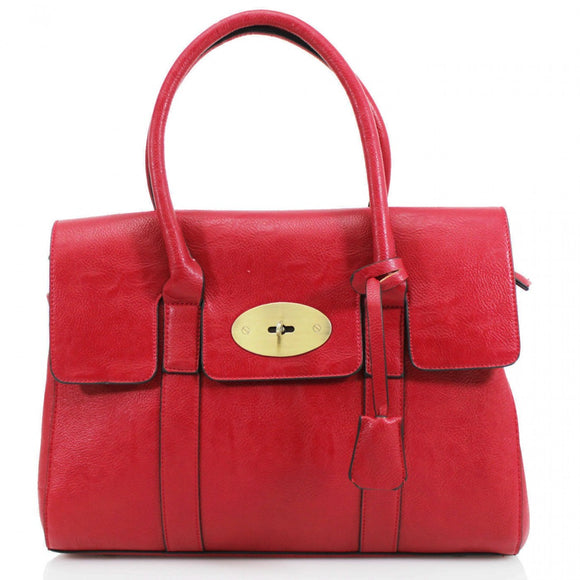 Kinley Designer Inspired Shoulder Bag - Red