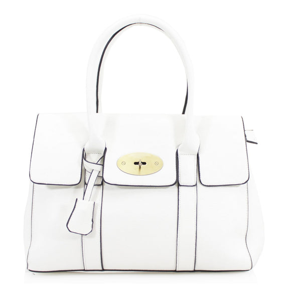 Kinley Designer Inspired Shoulder Bag - White