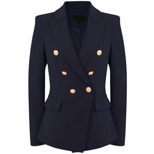 69a43764 Victoria Balmain Inspired Tailored Blazer - Navy – Style Of Beyond