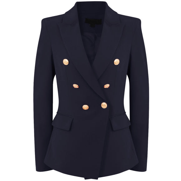Victoria Balmain Inspired Tailored Blazer - Navy