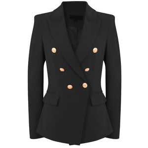 Victoria Balmain Inspired Tailored Blazer - Black