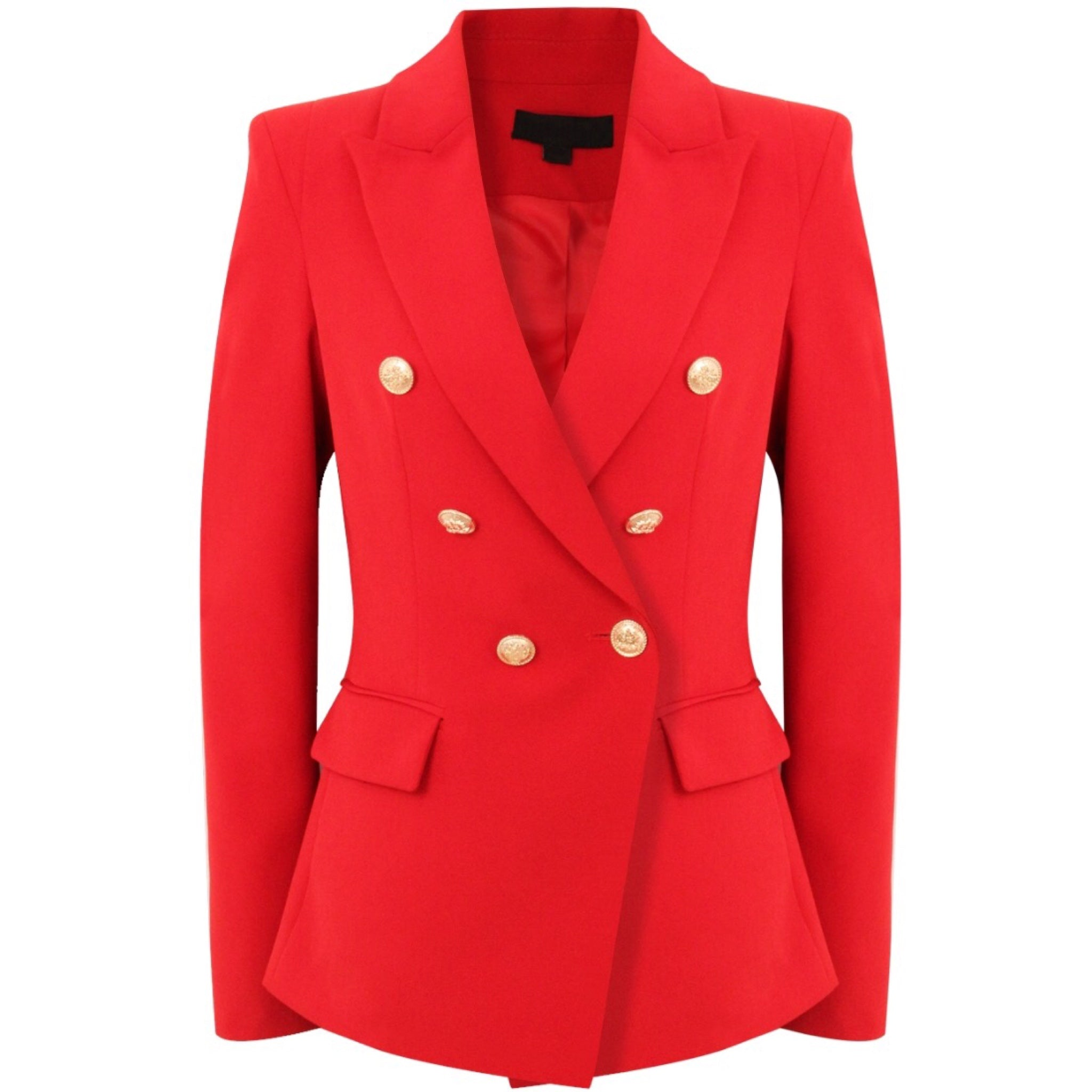 33a7312c Victoria Balmain Inspired Tailored Blazer - Red – Style Of Beyond