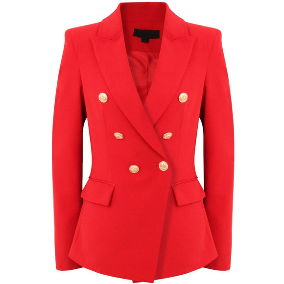 Victoria Balmain Inspired Tailored Blazer - Red