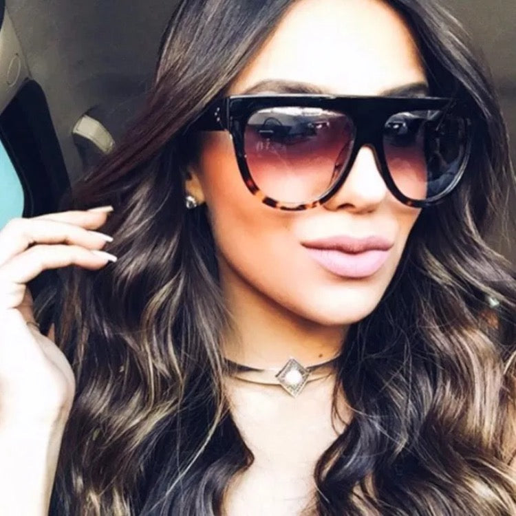 97f25ba38a5 So Fetch Celine Inspired Flat Top Sunglasses - Tortoise – Style Of ...