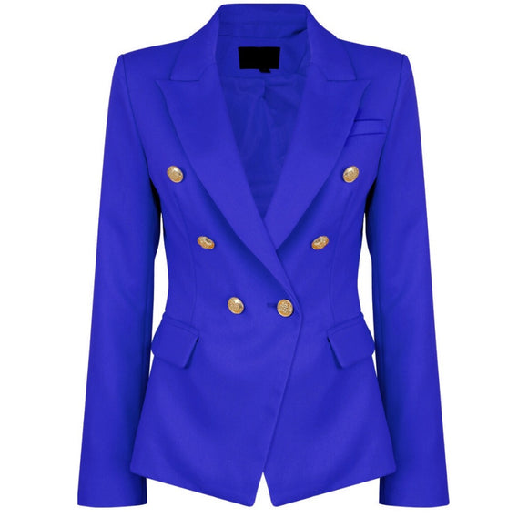 Victoria Balmain Inspired Tailored Blazer - Royal Blue