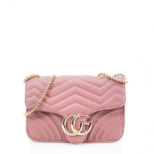 Talia Crossbody Gucci Inspired Marmont Bag - Dusty Pink