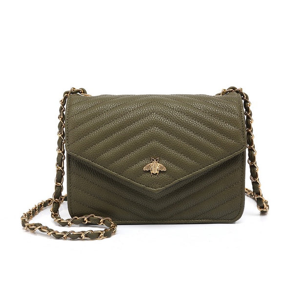 Brenda Bee Gucci Inspired Bag - Khaki Green