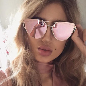 Sunny Dayz Mirrored Sunglasses - Rose Gold