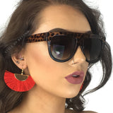 So Fetch Celine Inspired Flat Top Sunglasses - Leopard
