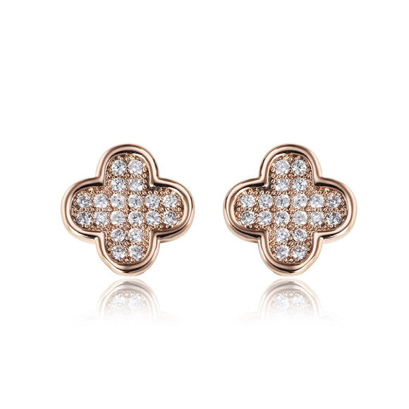 Kiki Stud Louis Vuitton Inspired Earrings - Rose Gold