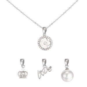 Kori Interchangeable Tiffany's Inspired Necklace - Silver
