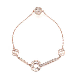 Coco Roman Numeral Tiffany's Inspired Bracelet - Rose Gold