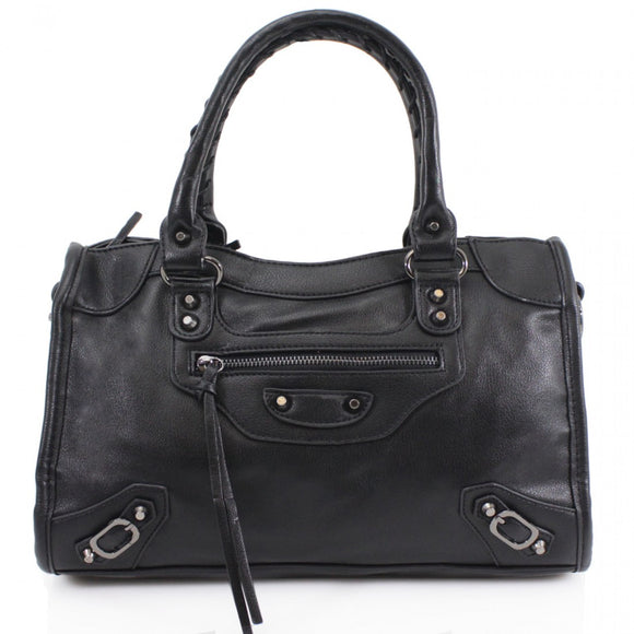 City Balenciaga Inspired Tote Bag - Black