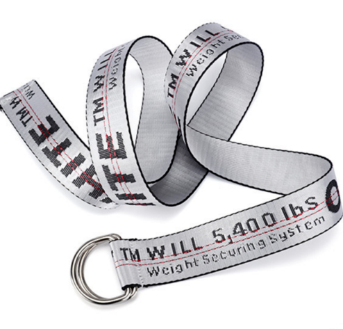 Off White Slogan Industrial Belt - White