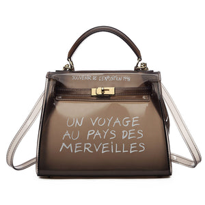 Voyage Clear Mini Hermes Inspired Bag - Black