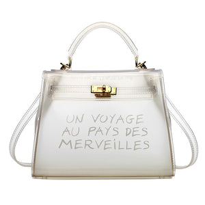 Voyage Clear Mini Hermes Inspired Bag - White