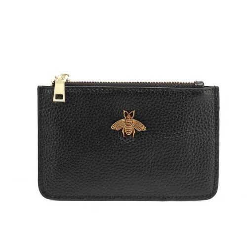 Carrie Bee Real Leather Gucci Inspired Key Pouch - Black