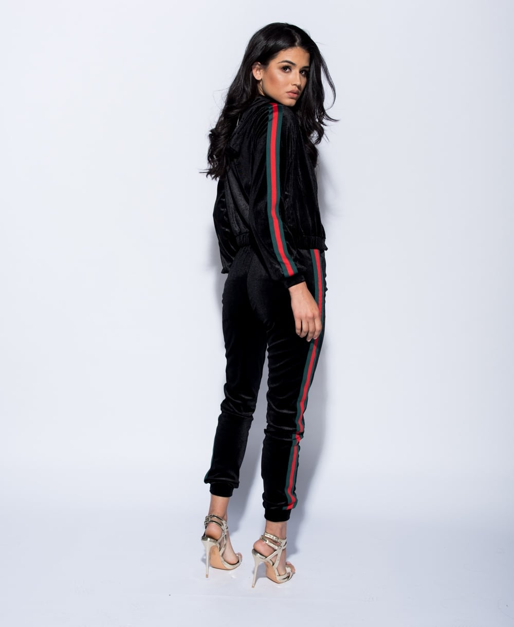 d094f967df2 Zella Velvet Gucci Inspired Tracksuit - Black – Style Of Beyond