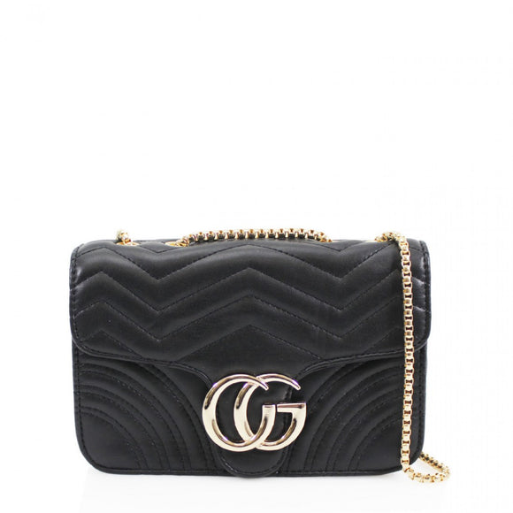 Talia Crossbody Gucci Inspired Marmont Bag - Black