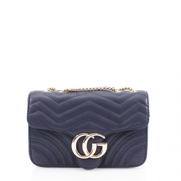 Talia Crossbody Gucci Inspired Marmont Bag - Navy