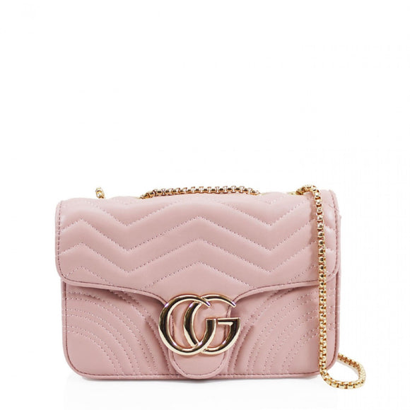 Talia Crossbody Gucci Inspired Marmont Bag - Pink