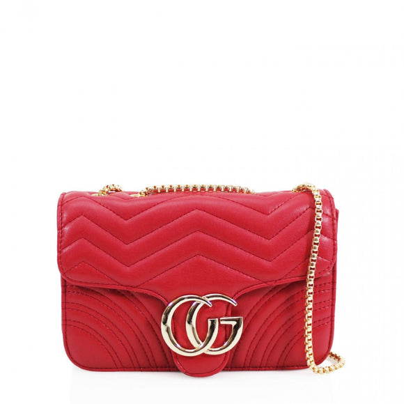 Talia Crossbody Gucci Inspired Marmont Bag - Red